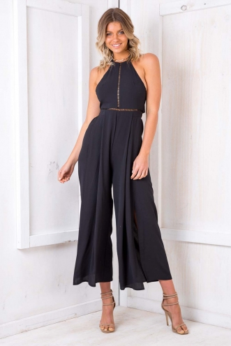 Queen Elizabeth Cake Jumpsuit - Black