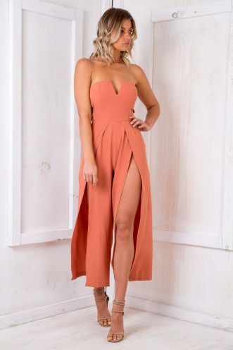 Jaffa Cakes Jumpsuit - Burnt Orange