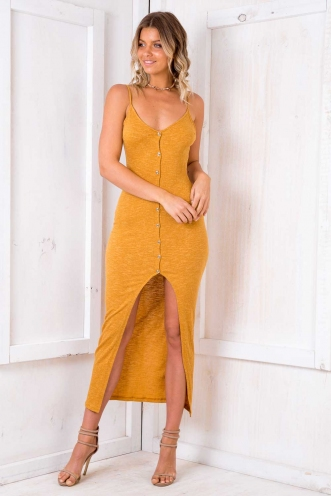 Got It Good Dress - Mustard