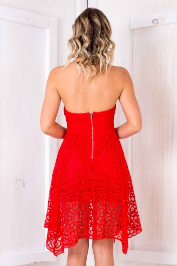 Bolo De Mel Dress - Red