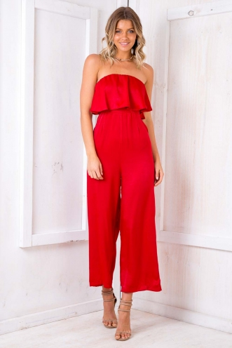 Dundee Cake Jumpsuit - Red