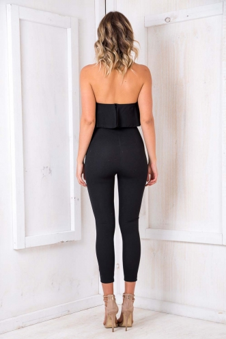 Caterpillar Cake Jumpsuit - Black
