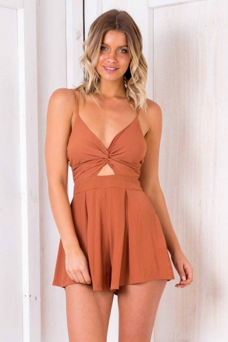 Vínarterta Playsuit - Terracotta