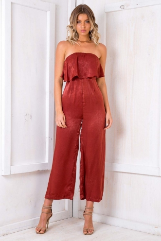 Dundee Cake Jumpsuit - Terracotta