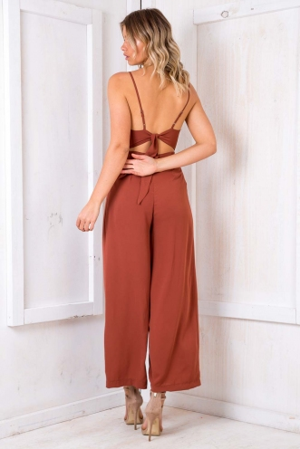 Flies' Graveyard Jumpsuit - Terracotta