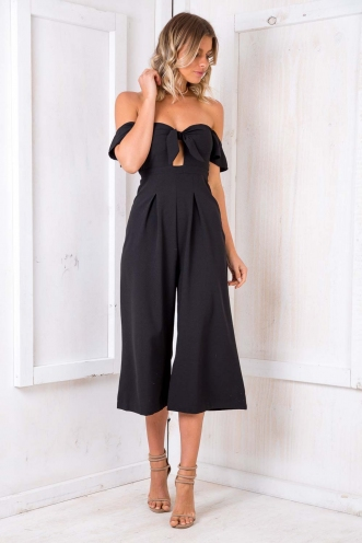 Wedding Cake Jumpsuit - Black
