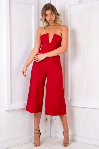 Apple Platz Jumpsuit - Maroon