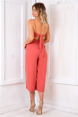 Fairy Cake Jumpsuit - Burnt Orange