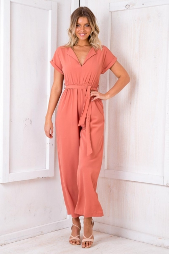 Victoria Sponge Cake Jumpsuit - Burnt Orange