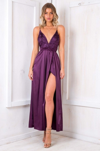 Lara evening dress - Purple