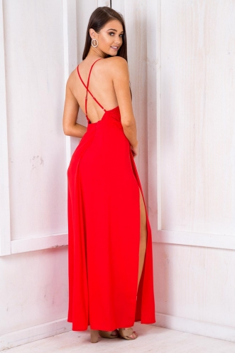 Smith Island Cake Dress - Red