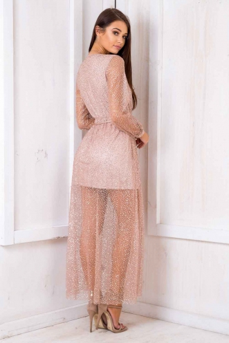 Clafoutis Aux Prunes Dress - Rose Gold Sequin