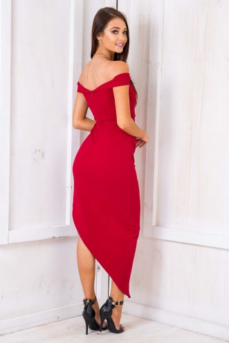 Diana Dress - Maroon
