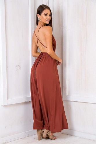 Plum Cake Jumpsuit - Terracotta