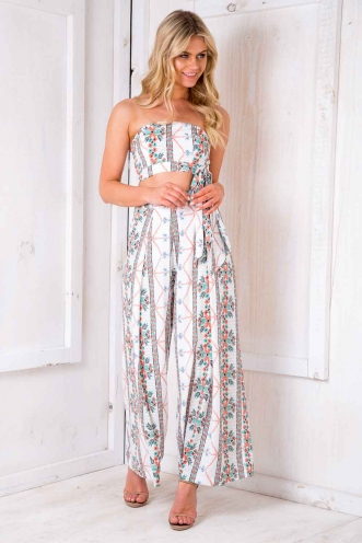 Basbousa Pants - White Pattern
