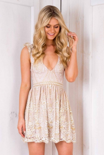 Sambali Dress - Blush Sequin