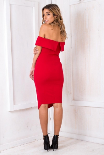 Renata off the shoulder dress - Red