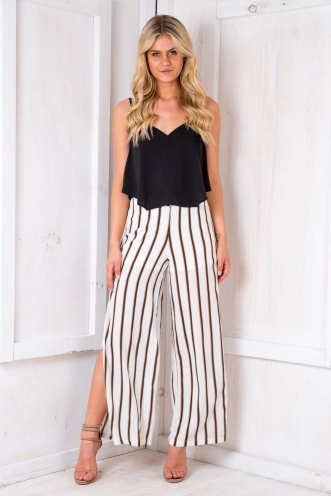 Dango Pants - White Stripe