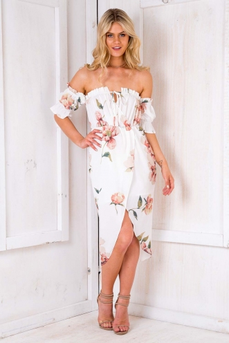 Caterina Dress - White Floral
