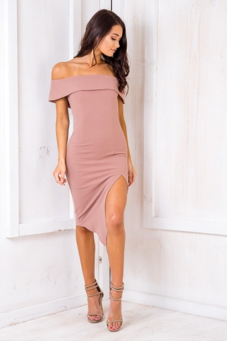 Renata Off The Shoulder Dress - Blush