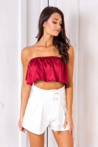 Sugar Plum Crop Top - Maroon