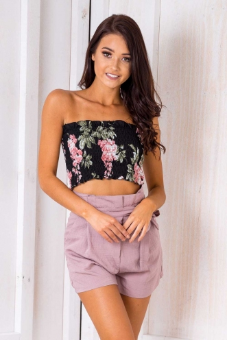 Sfouf Top - Black Floral