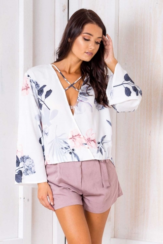 Brioche Top - White Print
