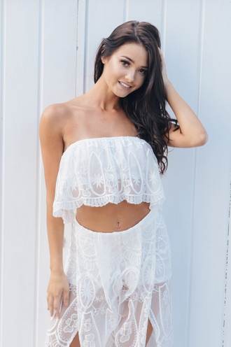 Dulce de Leche Top - White