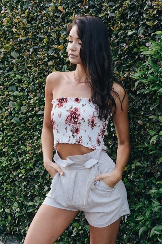 Sfouf Top - White Floral