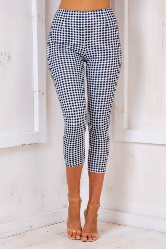 Brazo Gitano Pants - Black/ White Chequered