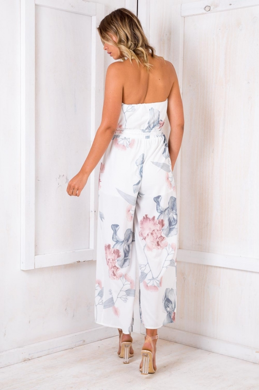 9a5265a9824e Party Nights Jumpsuit - White Print SALE - Stelly