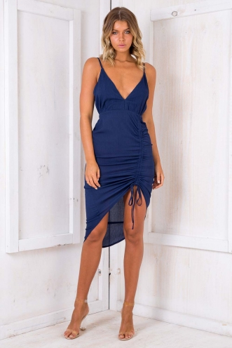 Pomegranate Mousse Cake Dress - Navy