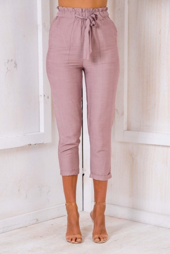 Aunt Sonja's Cherry Squares Pants - Blush