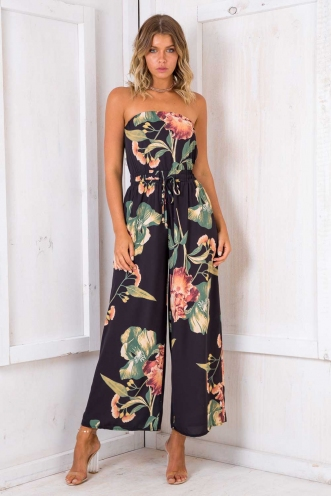 Party Nights Jumpsuit - Black Design