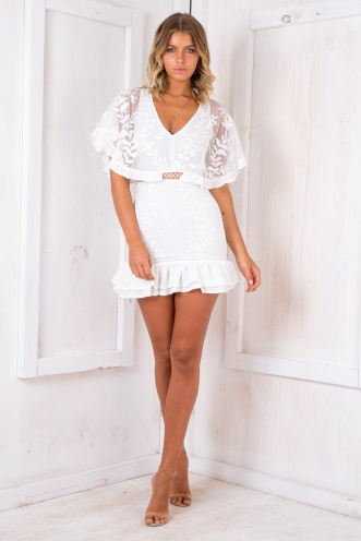 Tropical Spice Cupcakes Dress - White Lace