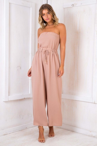 Party nights jumpsuit - Beige