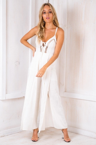Lazy Pie Jumpsuit - Off White