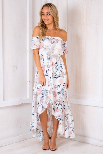 Angel's Delight Dress - White Floral