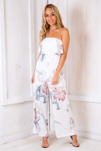Dundee Cake Jumpsuit - White Floral
