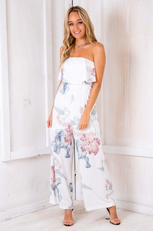 497a552da703 Sale! Dundee Cake Jumpsuit - White Floral. Loading zoom