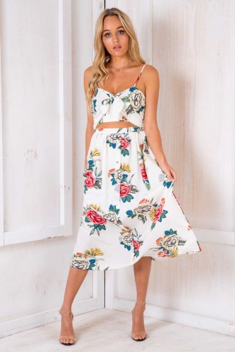 Clinkers Dress - White Floral