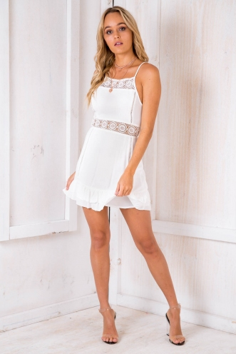 Fantales Dress - White