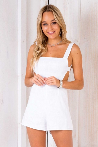 Violet Crumble Playsuit - Off White