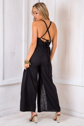 Lazy Pie Jumpsuit - Black