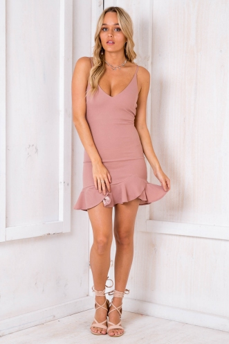 Piper Dress - Dusty Pink