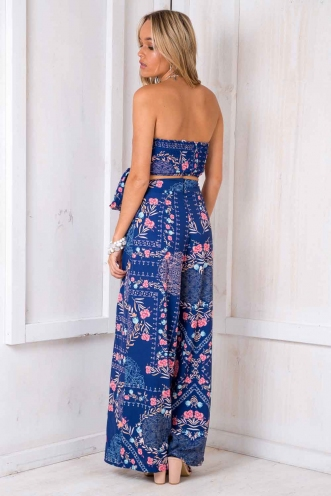 Tropical Getaway Pants - Blue Print