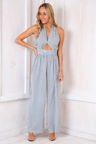 Vertical Jumpsuit - Black/White