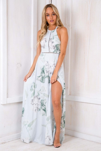 Lily of the Valley Dress - Light Blue Floral