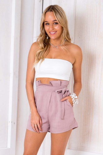 Angel Wings Pastry Shorts - Blush