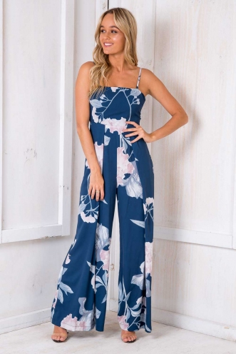 Logan Jumpsuit - Navy/Floral
